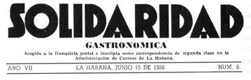 Solidaridad gastronomica (Havanna 1956)