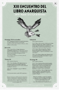 13 Encuentro Libro Anarquista de Madrid