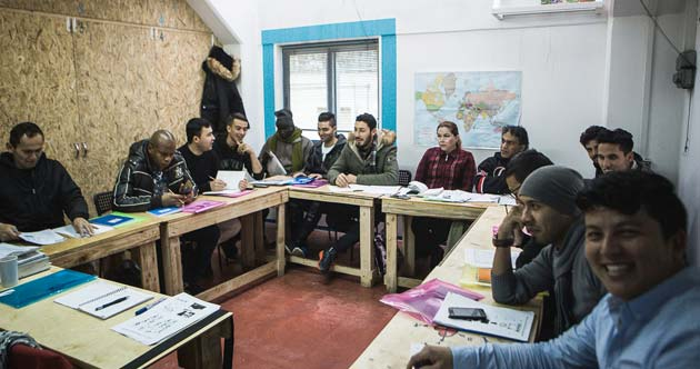 Khora Community, en barrio Exarchia