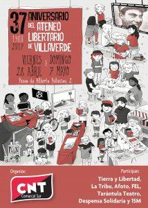 Ateneo Libertaro de Villaverde, 37 Aniversario