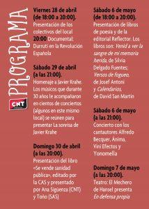 Ateneo Libertaro de Villaverde, Programa del 37 Aniversario
