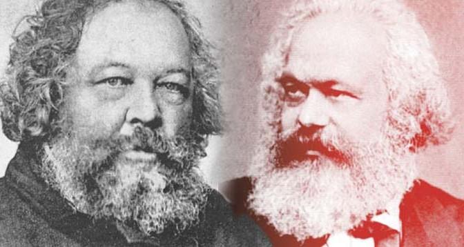 Karl-Marx-Mijail-Bakunin-Marxismo-Anarquismo-Acracia