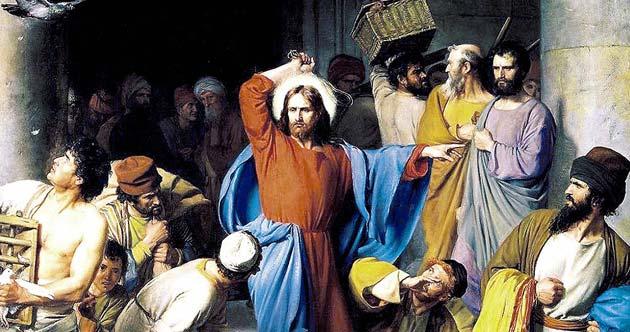 Jesucristo expulsando a los mercaderes del templo