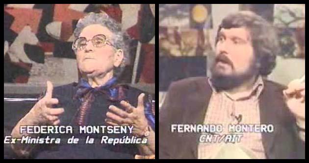 Federica Montseny y Fernando Monterno, en programa La Clave de 1984