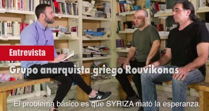 Anarquismo Grecia Rouvikonas